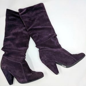 Jessica Simpson | Angie purple suede pull on boots